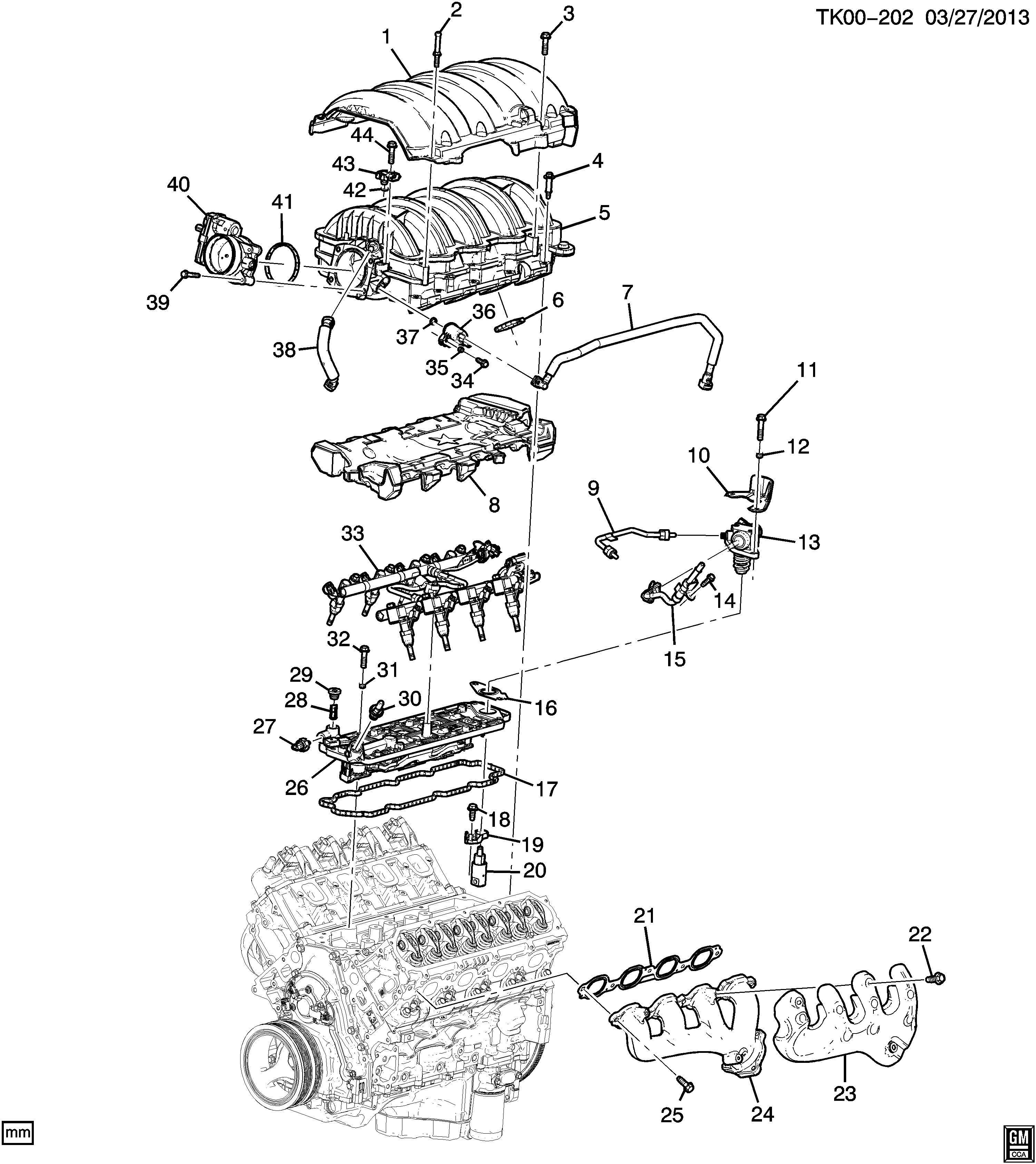 gm lt engine diagram