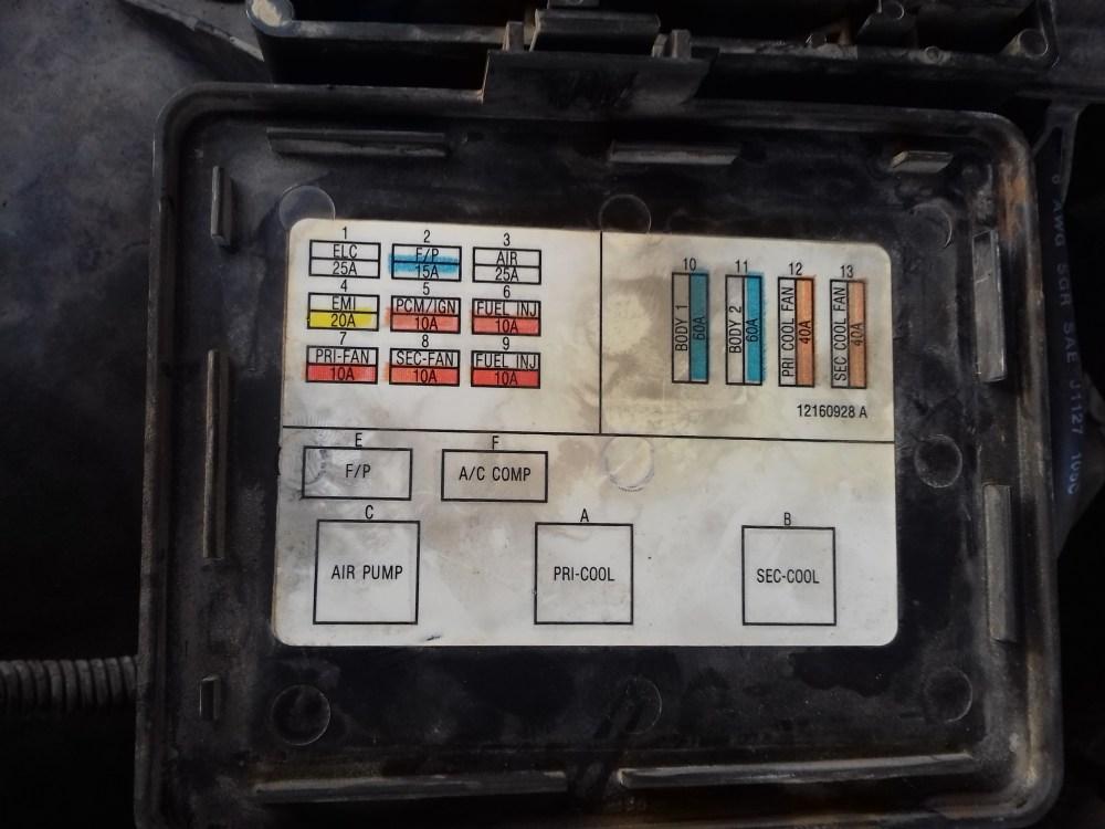 medium resolution of 96 impala ss fuse box wiring diagram pass 1995 chevy impala ss fuses box just wiring