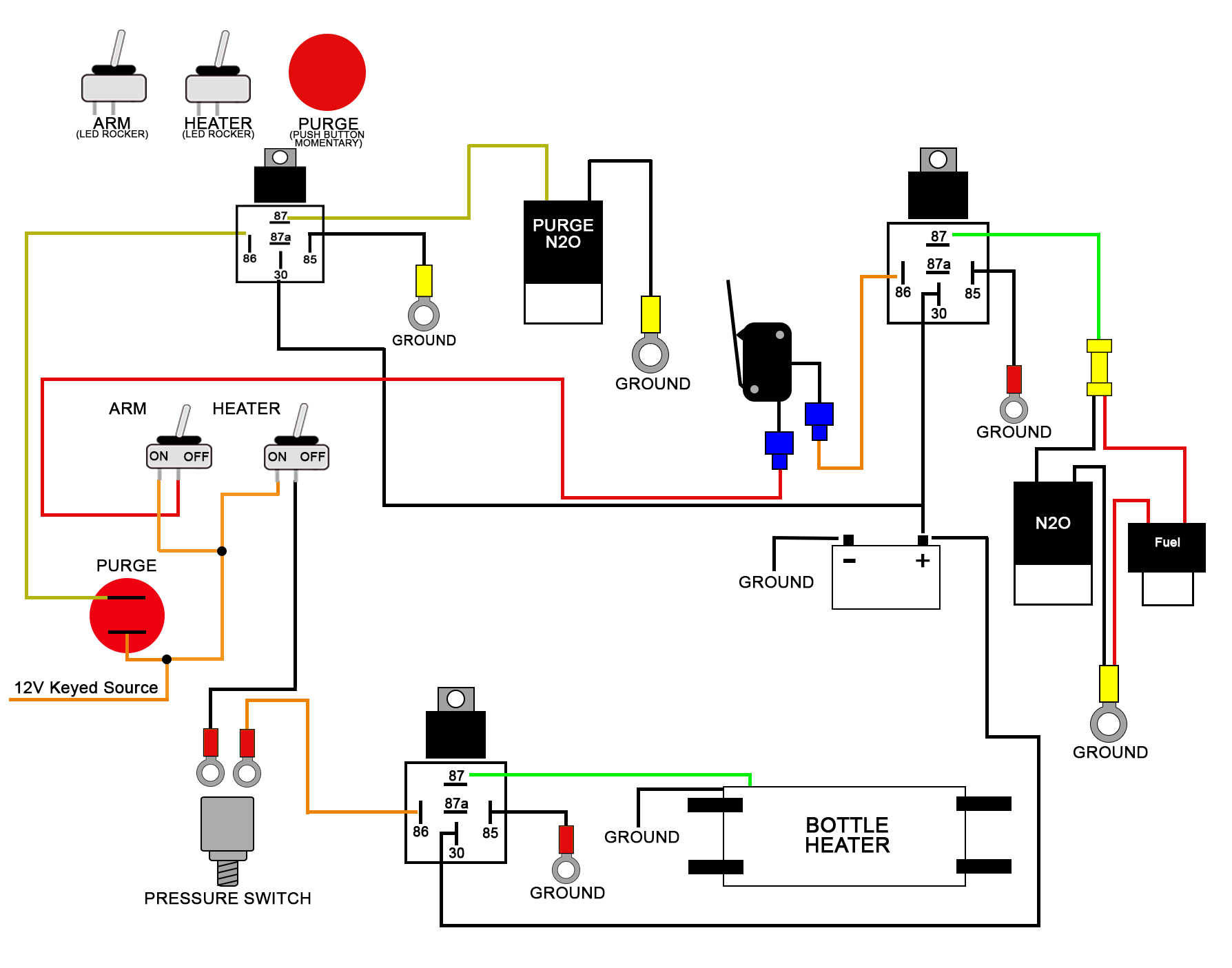 nitrous wiring diagram with window switch 2017 ford f150 stereo to kit ls1tech camaro and