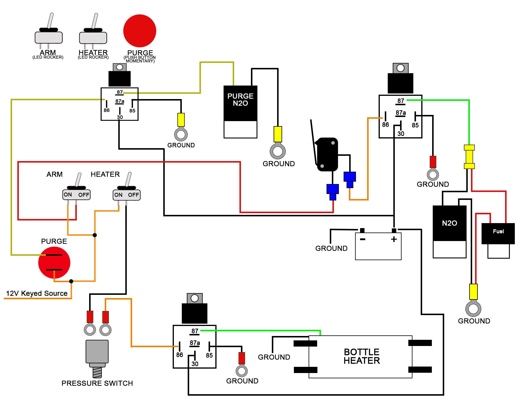 hight resolution of nitrous gauge wiring diagram diy diagrams glowshift