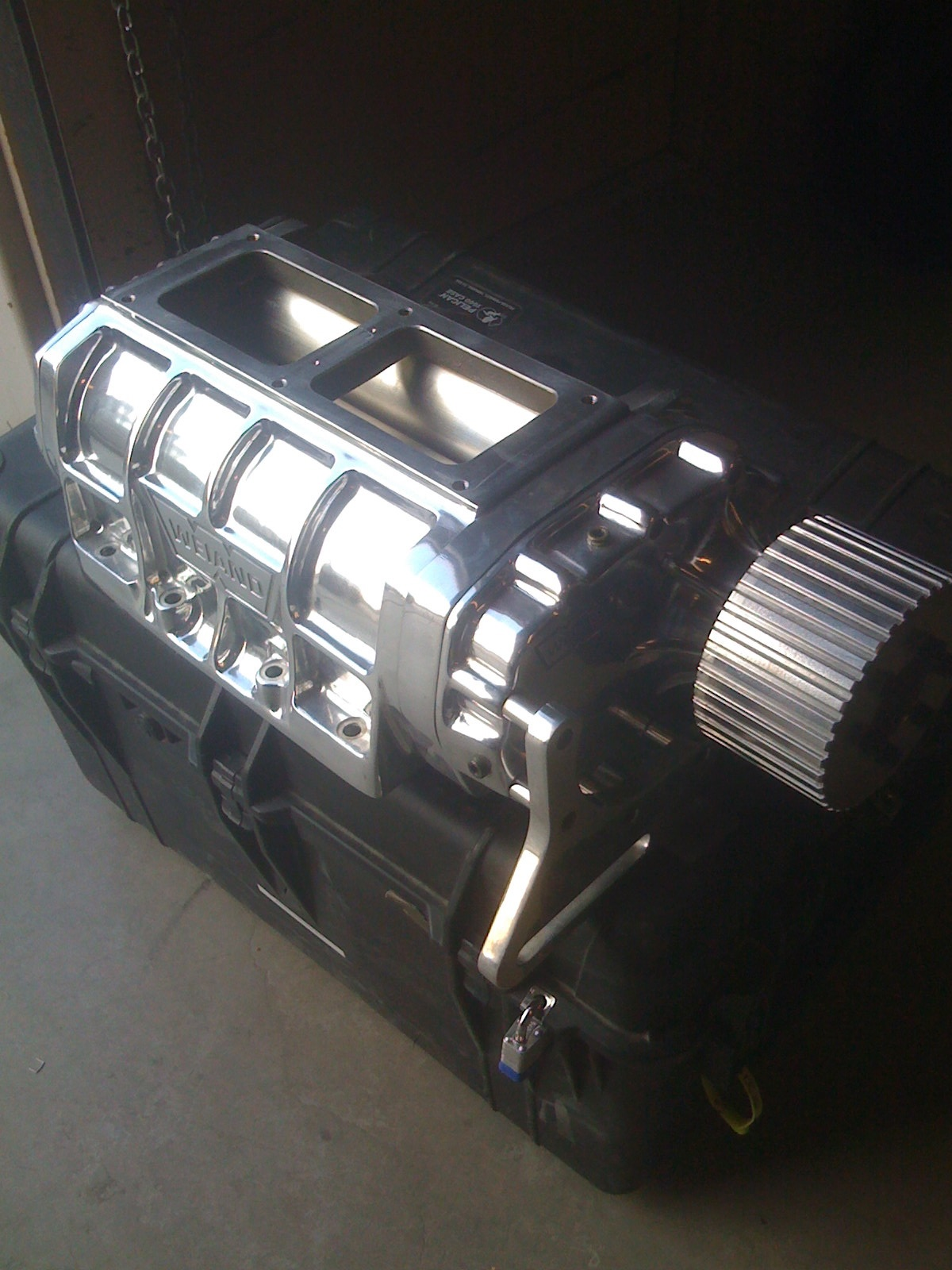 Polished weiand 671 supercharger setup for sbc  LS1TECH  Camaro and Firebird Forum Discussion