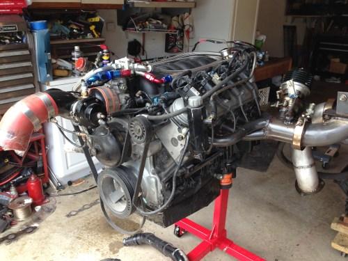 small resolution of 4 8 iron block twin turbo engine complete wheels 255 jpg