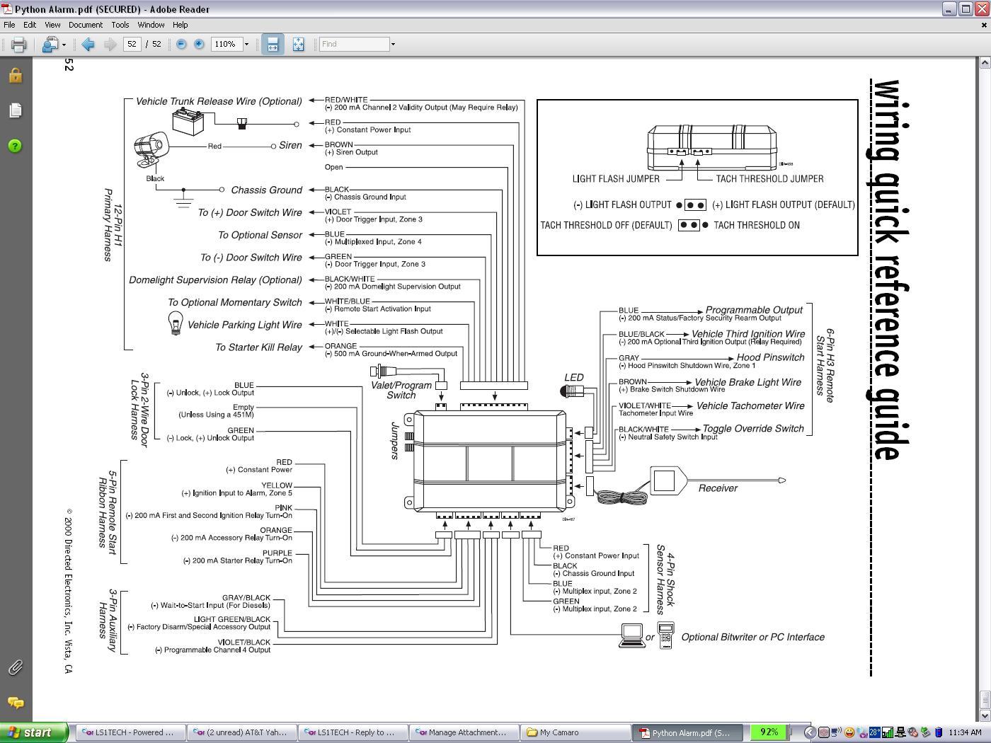 hight resolution of python alarm wiring diagram car alarm wiring diagram viper 5906v car alarm wiring diagram alarm car