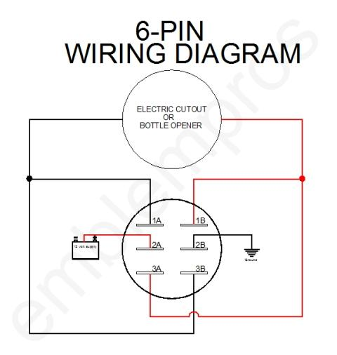 wiring diagram for 6 pin toggle switch