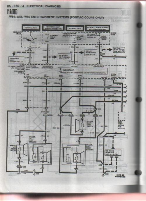 small resolution of 1996 10 speaker pontiac system pre monsoon aftermarket 5 channel 95 firebird monsoon stereo wiring diagrams