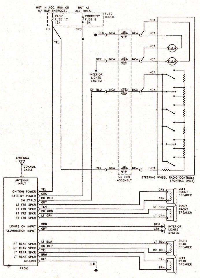 02 S10 Wiring Diagram Wires That Control Illuminate The Steering Wheel Radio