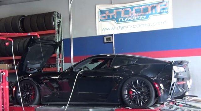 dyno blast c7 corvette z06 with exhaust
