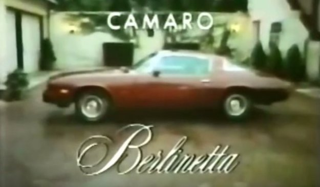 78 camaro berlinetta commercial