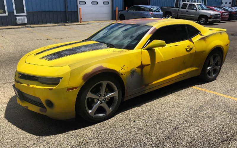 6Th Gen Camaro >> Nifty Rust-Wrapped Camaro is a 1977 Bumblebee Transformers ...