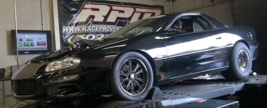 LS1tech.com 4th gen Camaro F-Body LSX 408ci V8 LS 88mm turbo boosted blown dyno run 925whp