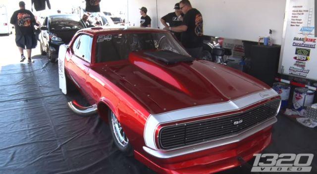 1969 Camaro Drag Race Fire