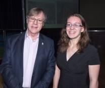 Professor Paul Cartledge and Katrina Kelly, Chair of LSA CA
