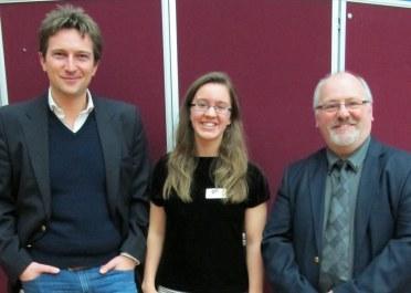 President Dr Michael Scott, Chair Katrina Kelly, and AKS Head of Classics Ian Morton