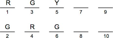 LSAT PrepTest 33, Section IV, Logic Game 4 Diagram