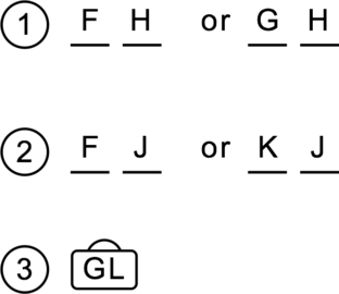 LSAT PrepTest 61, Section III, Logic Game 1 Diagram