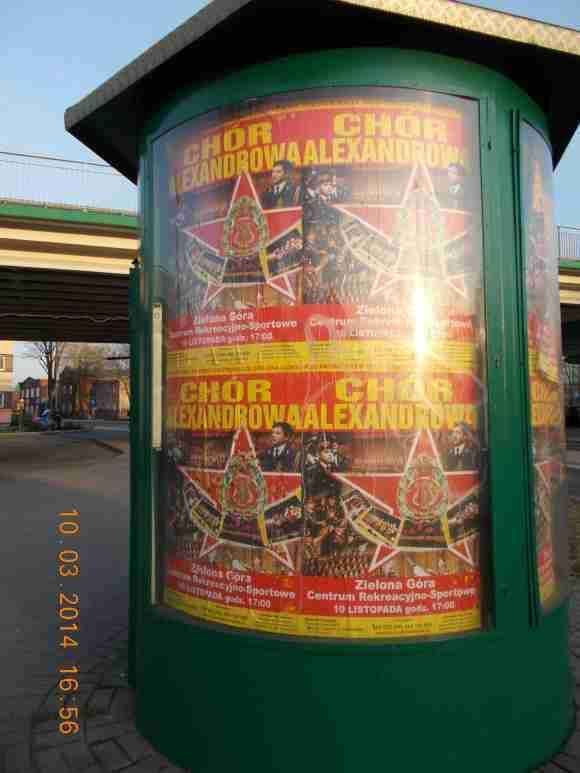 Chór Armii Czerwonej, Chór Aleksandrowa, Zielona Góra 10 marca 2014, Plakaty do występu 10 listopada 2013