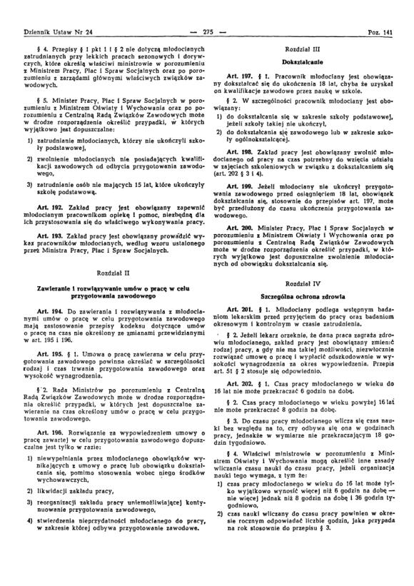 Kodeks Pracy 1974, strona 19