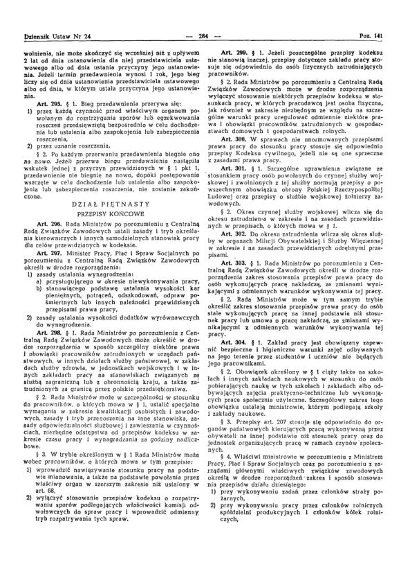 Kodeks Pracy 1974, strona 28