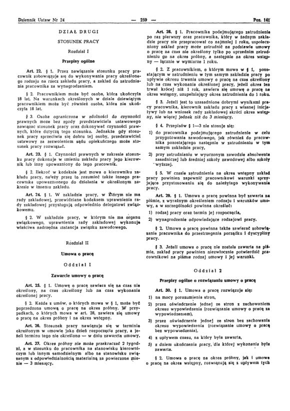 Kodeks Pracy 1974, strona 3