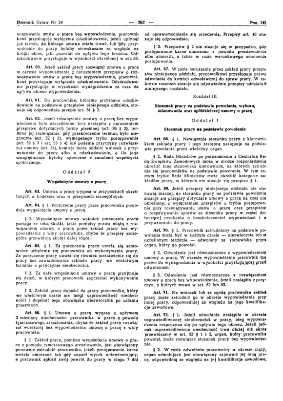 Kodeks Pracy 1974, strona 7
