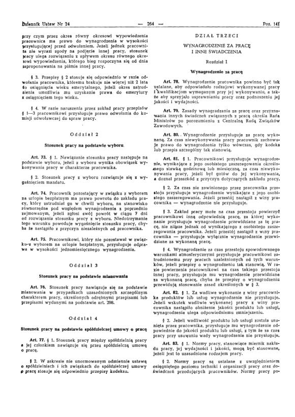 Kodeks Pracy 1974, strona 8