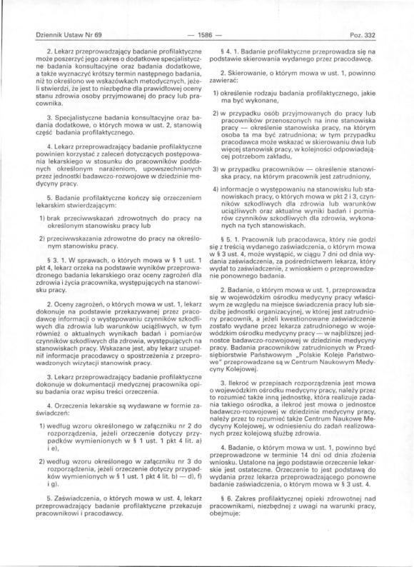 Rozporządzenie Ministra Zdrowiua 30 maja 1996, strona 2