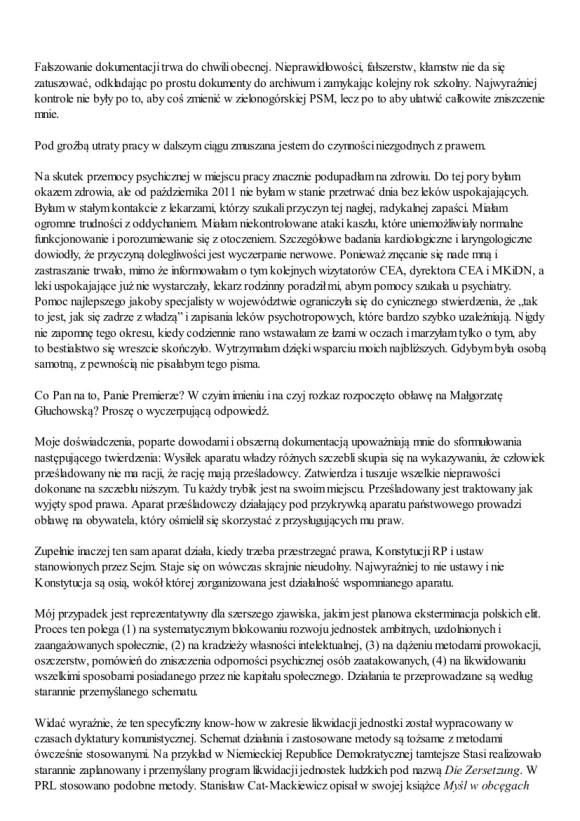 Małgorzata Głuchowska, list do Jarosława Kaczyńskiego 2 grudnia 2012, strona 4