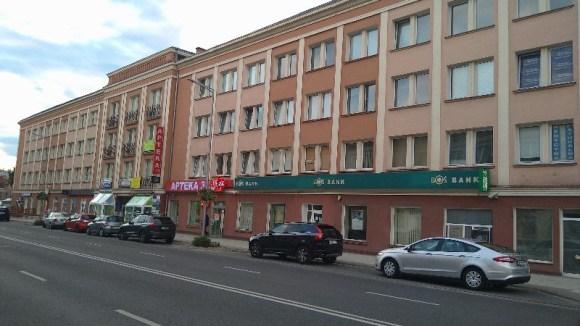 Biurowiec przy ul. Westerplatte w Zielonej Górze, w którym Bożena Telec ma również swój pokój