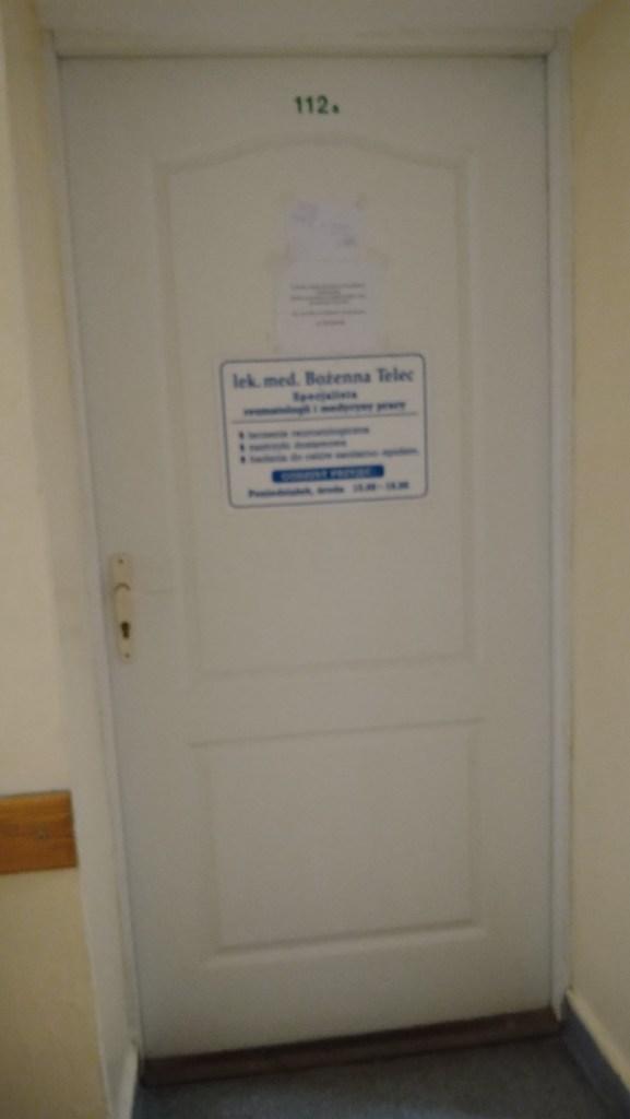 Pokój 112A, Bożenna Telec, biurowiec przy ul. Westerplatte, Zielona Góra