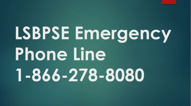 LSBPSE IS OPEN – PHONE DIVERTED TO 800 LINE