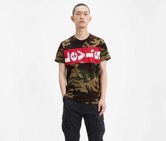 Oversized L Tab Tee Shirt