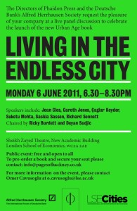 Living in the Endless City - launch event - invitation