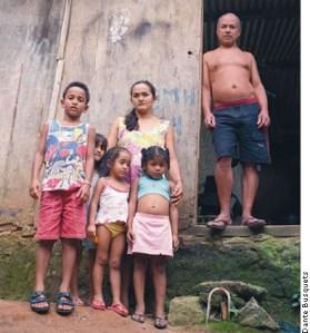 Family in Rocinha, a favela in Rio de Janeiro