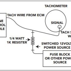 Model A 12 Volt Wiring Diagram Sony Cdx Gt300mp Camaro And Firebird Ls Swap Guide Engine Diy This Illustrates The Correct For Resistor To Go Inline Your Tachometer