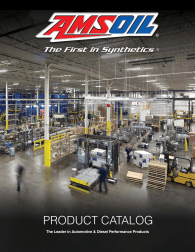 The Amsoil G290 Products by Application cover graphic
