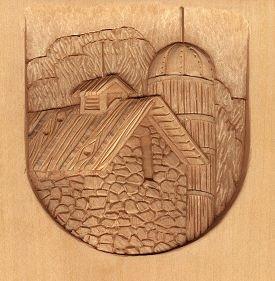 Landscape relief wood carving by l s irish lsirish