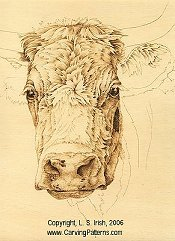 cow pattern animal fur wood carving basics