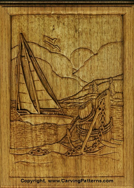 Creating depth and realism in relief carvings hingst s sign post