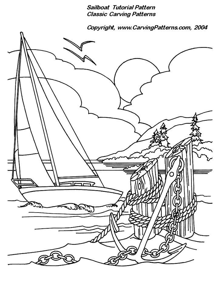 Sailboat Relief Wood Carving Project for Beginners by L. S