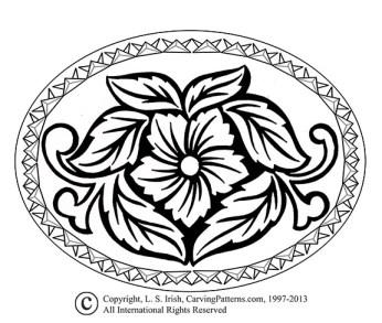 L S Irish Chip Carving Pattern