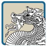 western, medieval dragon patterns by Lora S Irish