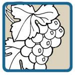 oak, grape, wheat mantel patterns by Lora S Irish