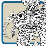 oriental dragon craft and carving patterns by Lora S Irish