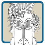 ceremonial mask patterns by Lora Irish