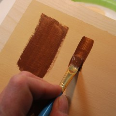 How to use craft paints on your wood carving, taught by Lora S Irish