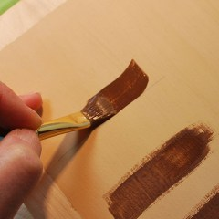 Brush strokes used to paint your wood carving