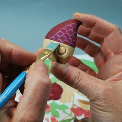 How to paint a perfect line in your wood carving projects.