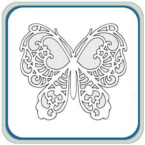 Scroll Saw Fretwork Butterfly Patterns by Lora S. Irish