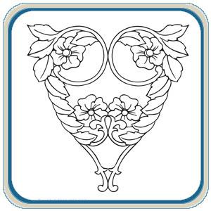 Heart Shaped Flower Patterns by Lora Irish