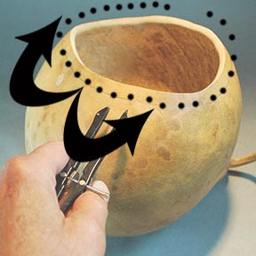 Gourd Art Project, How to Create a Braided Rim Gourd by